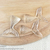 Crystal Clear Mermaid Resin Tail Embellishment - Mermaid Applique-