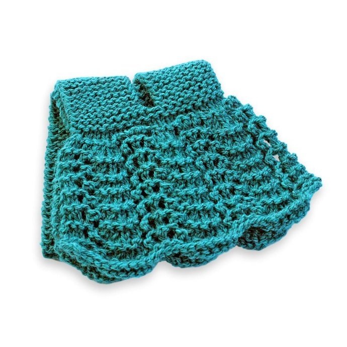 Knit Neck Warmer, Teal