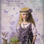 Girl and Lavender Flowers Digital Collage Greeting Card22308