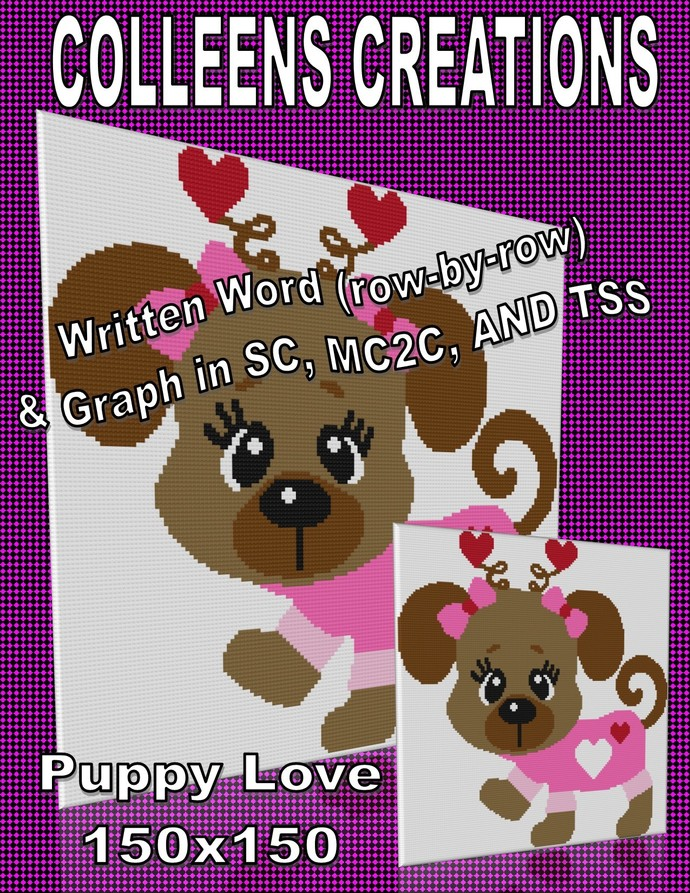 Puppy Love Crochet Written and Graph Design