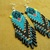 Native American Style Brick Stitched North Coastal  Four Direction Frog Earrings