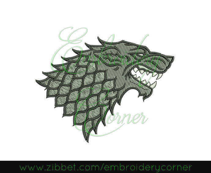 GoT Stark Sigil Design for Embroidery Machine 4x4 - Instant Download