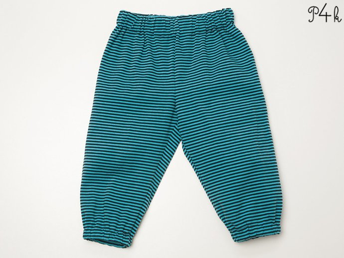 Baby pants pattern for boys + girls with elastic band and hemline. Toddler
