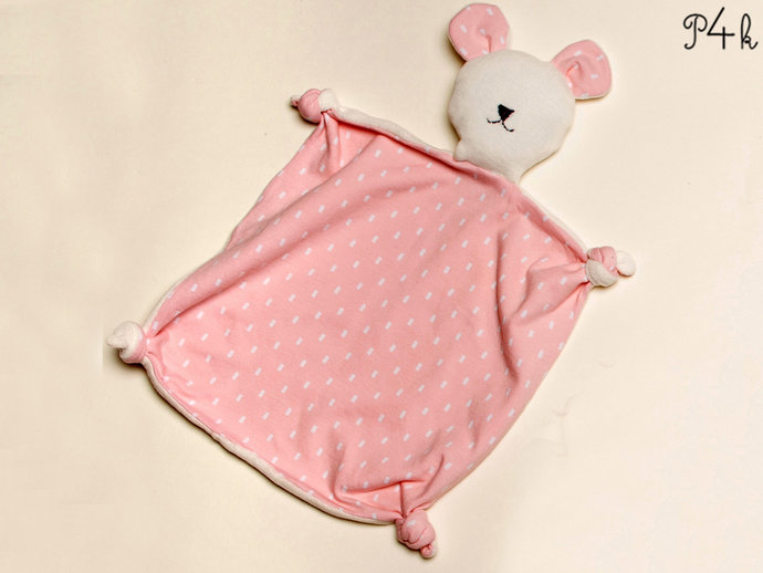 Baby Cuddly toy, Stuffed animal and tooth cloth pattern. nice baby shower gift.