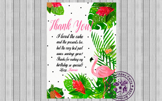 Flamingo Thank You, Flamingo Thank You tags, Flamingo Thank You Card, Flamingo