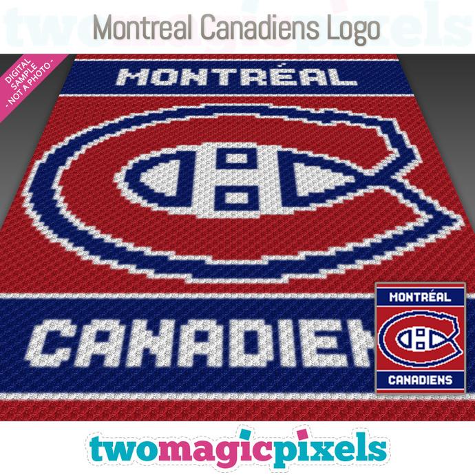 Montreal Canadiens Logo crochet graph (C2C, Mini C2C, SC, HDC, DC, TSS), cross