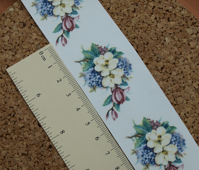 Magnolia Bouquet Ceramic Waterslide Decal D10-65