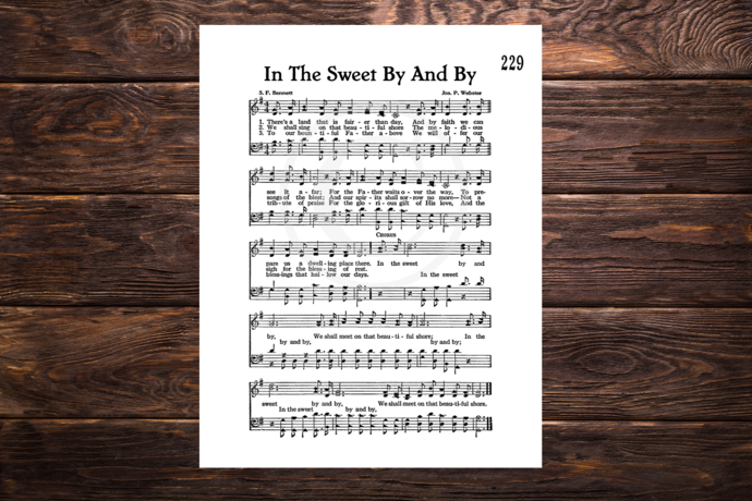 IN THE SWEET BY AND BY Vintage Verses Printable Sheet Music Wall Art Instant