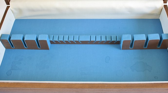 Empty Silverware Box, Wood Flatware Chest, Long, Holds Service for 12