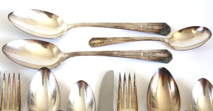"Floral Silverware Set Wm A Rogers Sectional ""Lido"" Oneida Silverplate Flatware"
