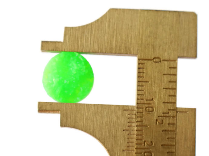 Green Round Druzy Cabochons 12mm Resin Druzy Cabochons Faux Druzy Cabochons Flat