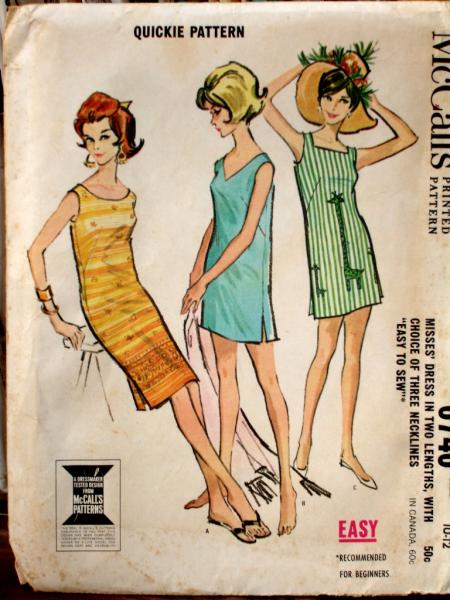 McCalls 6740 Vintage Pattern