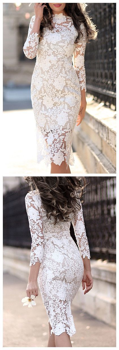 white Elegant Wedding Dresses Applique