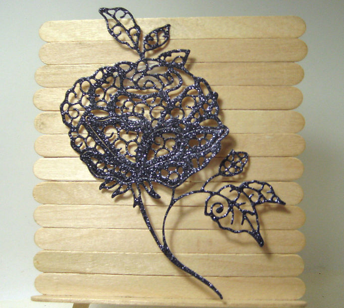 Large Rose Cutting Die for Card Making, Floral Die