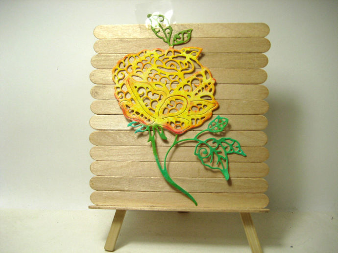 Large Rose Cutting Die for Card Making, Floral Die