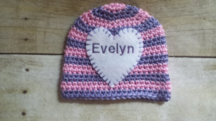 BabyGirl Name Hat - Personalized Newborn Hat - Newborn Name Hat - Personalized