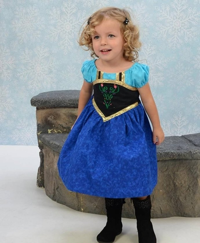 Anna Dress, Princess Anna Dress,  Anna Dress Up,  Sizes from  12 months  to 8