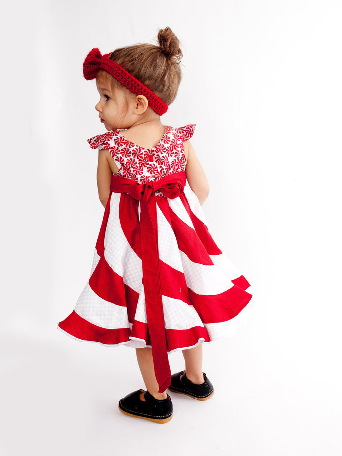 Peppermint Swirl Dress Candy Cane Dress  Candy Dress Swirl Dress Girls Boutique