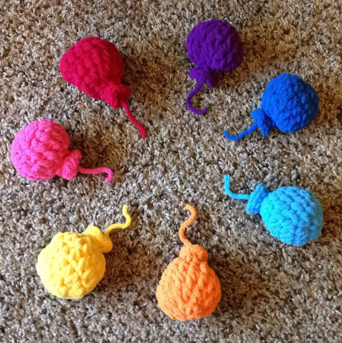 Water Bombs Crocheted Water Balloons Fluffy Soft Reusuable Great Splat No Hurt