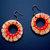 Earrings Wood Painted jewelry Red earrings Decorated wooden earrings Folk art