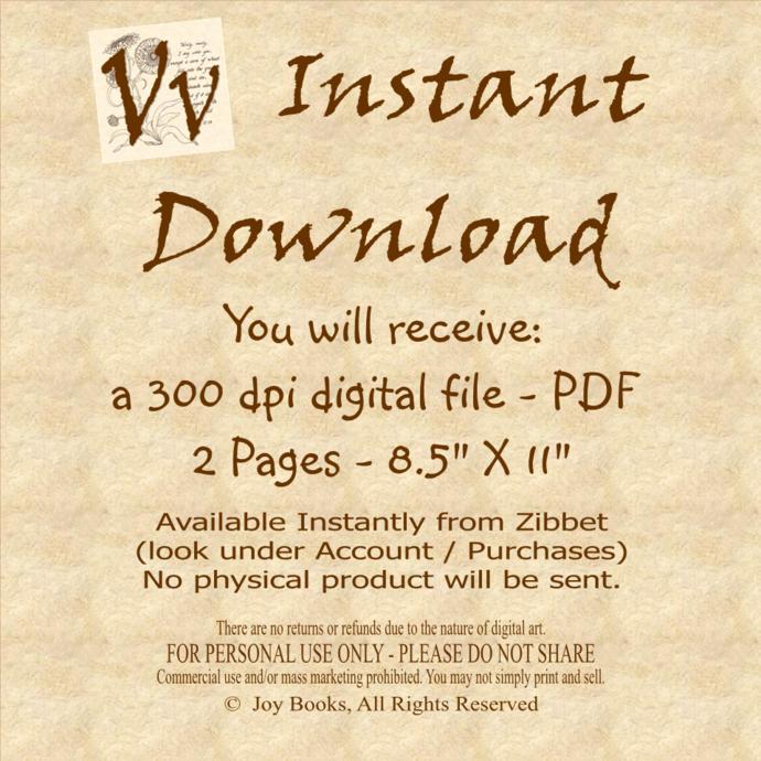 JOY TO THE WORLD Christmas Carol Vintage Verses DIY Print It Yourself Sheet
