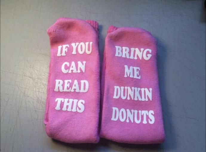 handmade Dunkin' Donuts socks