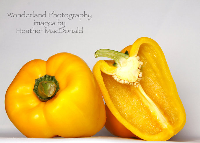 Yellow Peppers Photograph 5x7 matted Print
