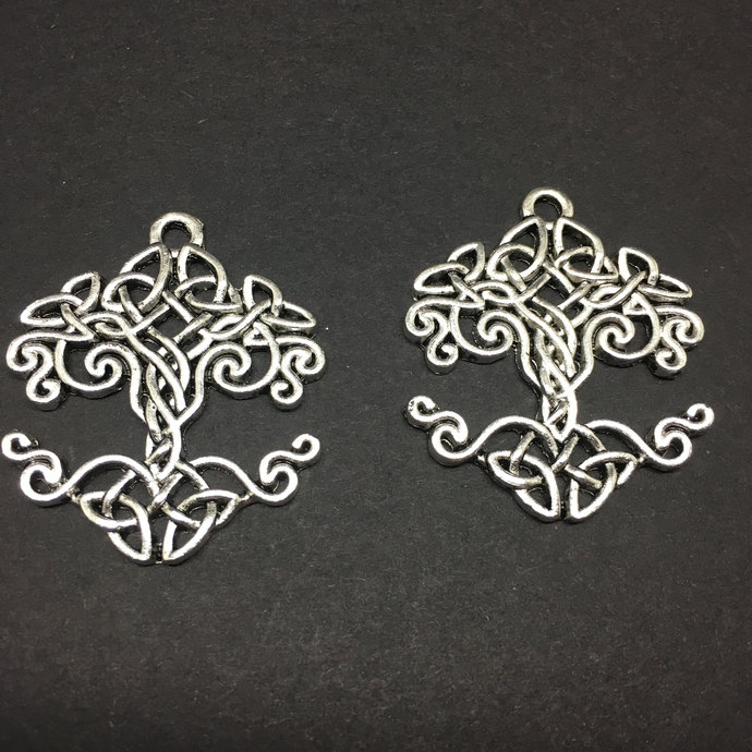 Tree of Life Charms pendants Antique Silver Jewelry Supplies 4 pcs