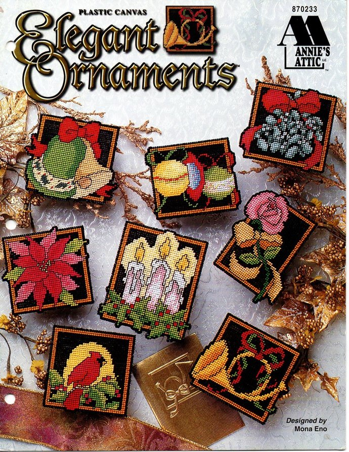Elegant Ornaments Plastic Canvas Pattern Annie's Attic Leaflet 870233 Christmas