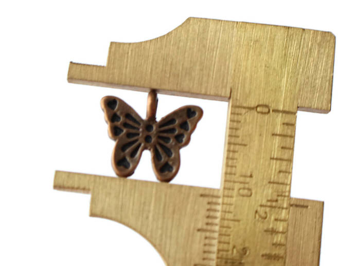 11 12x14mm Antique Bronze Zinc Alloy Butterfly Charms Butterflies and Hearts