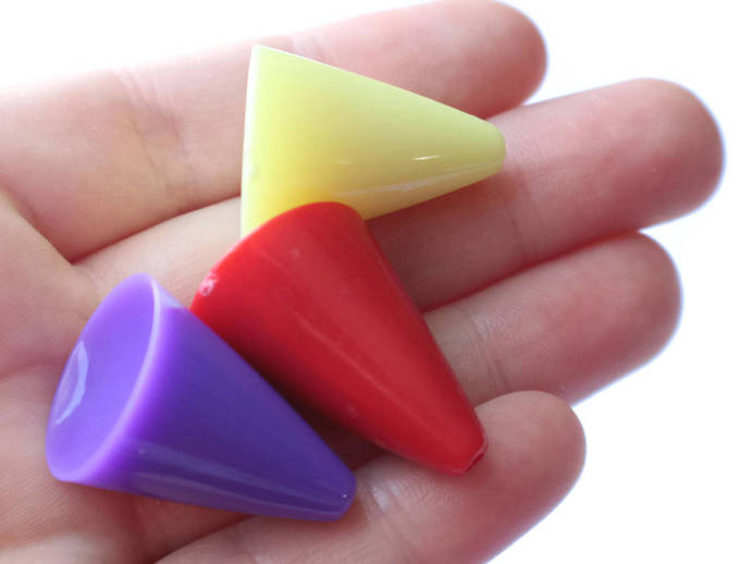 10 30mm Mixed Cone Beads Acrylic cone Beads Asymmetrical  Beads Jewelry Making