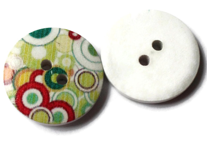 12 23mm Buttons Dot Buttons Colorful Buttons Multicolor Buttons 2 Hole Buttons