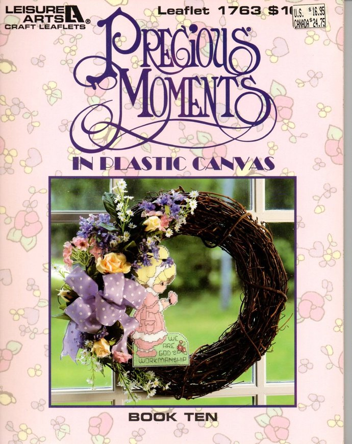 Precious Moments Plastic Canvas Pattern Book Ten Leisure Arts Leaflet 1763