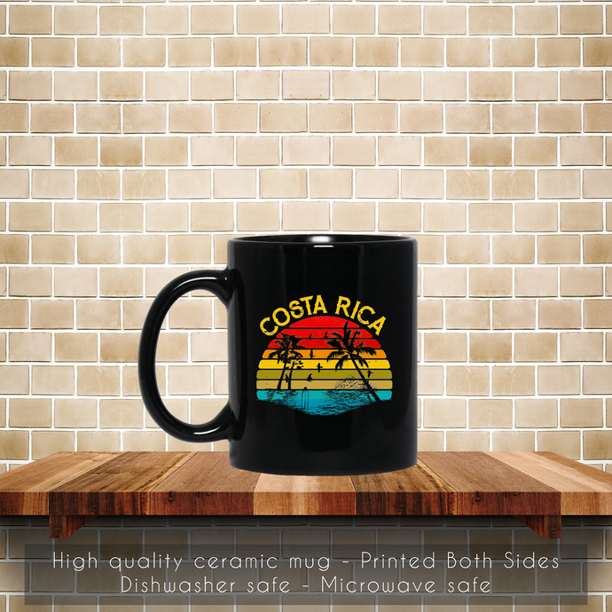 Vintage Costa Rica, Retro 70s 80s Coffee Mug, Tea Mug, Coffee Mug, Retro Costa