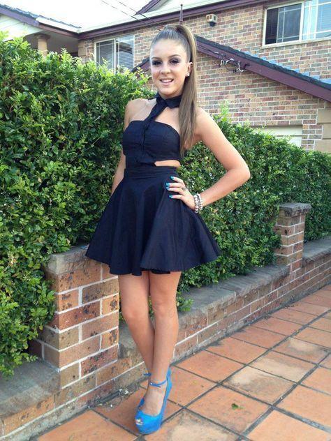 Black Halter Homecoming Dress,Mini Dress,Little Black Dress,Cheap Homecoming