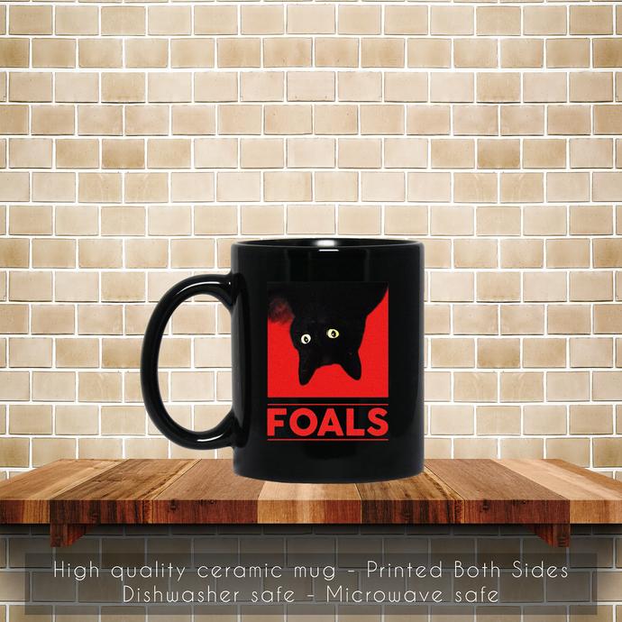 Black Cat Foals Tour 2019 Coffee Mug, Tea Mug, Black Cat Foals Tour 2019, Black