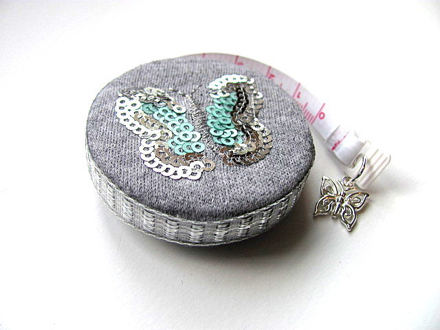 Measuring Tape Sparkle Butterflies Retractable Pocket Tape Measure