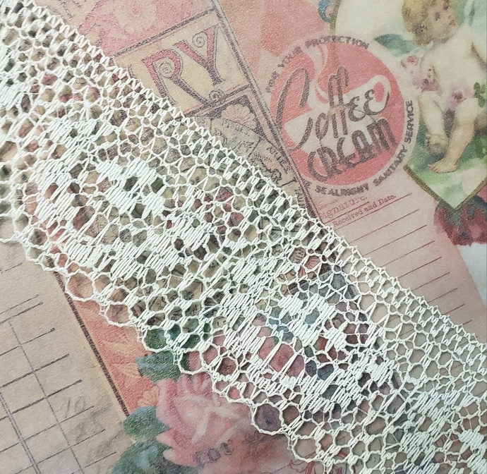 Mint lace trim 1 yd