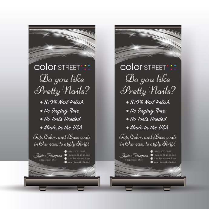 Personalized Color Street Banner Stand, Color Street Stylist Banner, Color