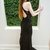 Sexy Black Lace Mermaid Long Sleeveless Keyhole Prom Dress with Open Back T4650