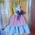 Blythe or Pullip Doll Dress - OOAK - Twin Flames- vintage pure linen +