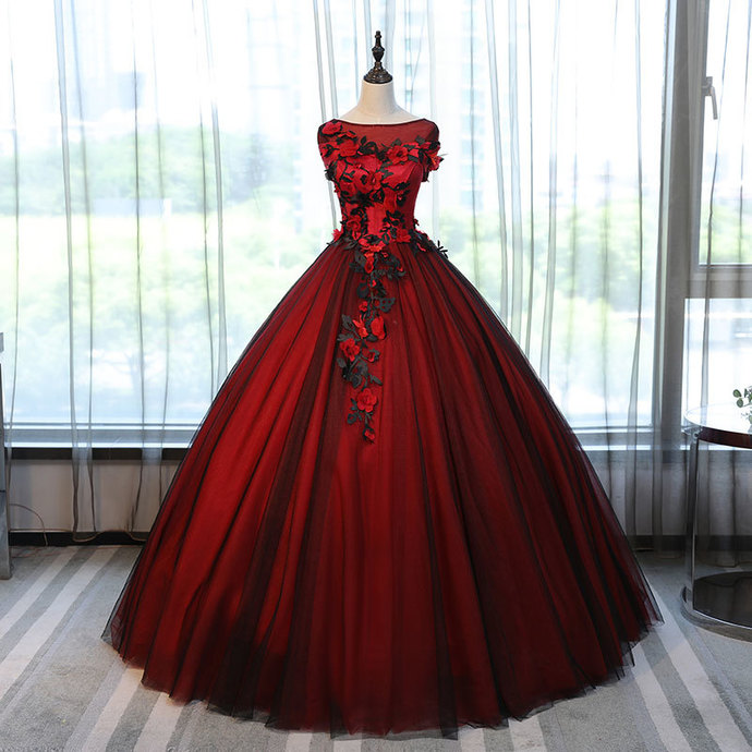 Red and Black Formal Dresses,Evening Gown Formal Dress,black ball gown,black ball gown,red and black ball gown,red and black dress,red and black dress,red and black dress,