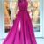 Charming Sexy High Slit ,Halter Neckline ,A Line Prom Dress , Floor Length,3D