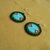 Native American Style Rosette Stitched Geometric Earrings with Sweetgrass