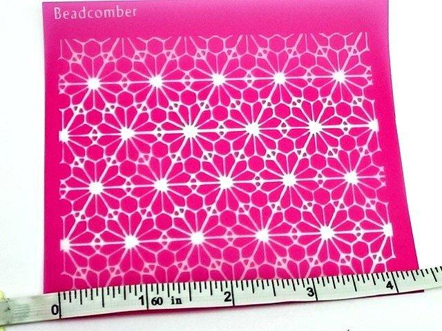 Beadcomber Beadcomber Silk Screen - Geometric Silkscreen for Polymer clay,