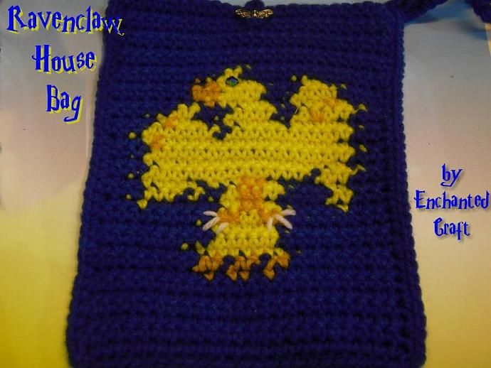 Ravenclaw Bag- cozy for your KINDLE 3, e-reader, nook or use it as a wristlet