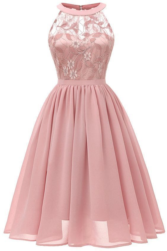 Elegant Tulle Prom Dress, Lace Short Homecoming Dress