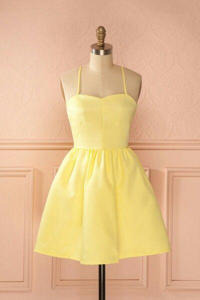 A Line short prom dress, homecoming dress