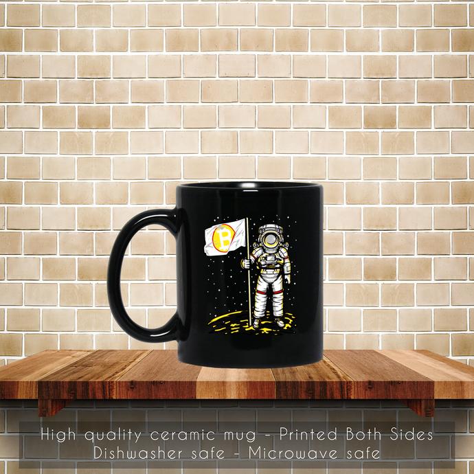 Bitcoin Astronaut To The Moon BTC Blockchain Coffee Mug, Tea Mug, Coffee Mug,
