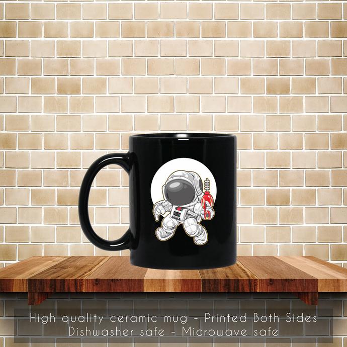Cartoon Astronaut Space Ranger Dance Coffee Mug, Tea Mug, Coffee Mug, Cartoon